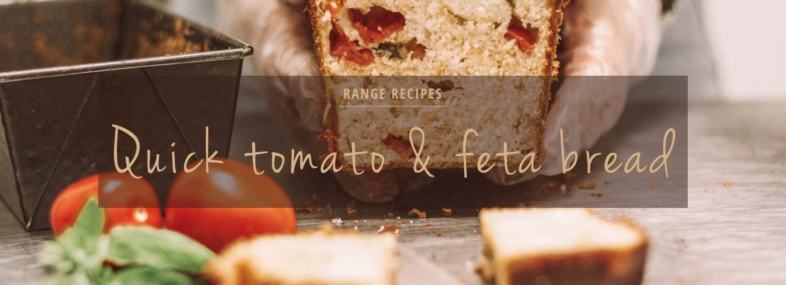 Quick tomato and feta bread