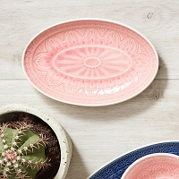 Chloe Small Oval Dish - Rose Light - 22cm