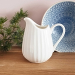 Fluted Porcelain Jug - 200ml (1/4 Pt)