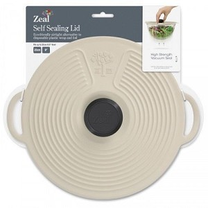 Silicone Self Sealing Lid - Cream 20cm